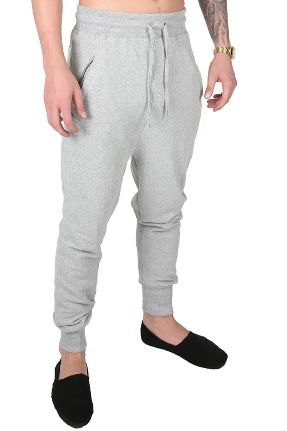 on sale online fine quality luxury aesthetic Details about Mens Branded Slim Fit Gym Joggers Double Zip Bottoms Stretchy  Trousers Pants
