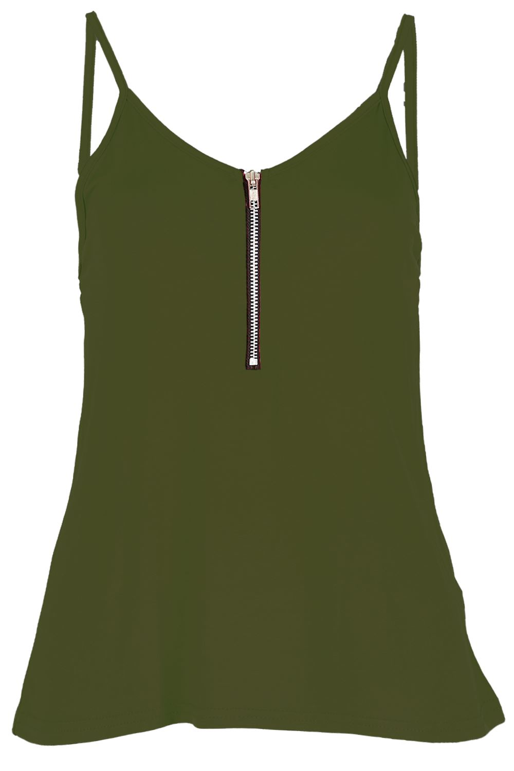 Womens-Ladies-Cami-Sleeveless-Swing-Vest-Strappy-Plain-Flared-Tank-Top-Plus-Size