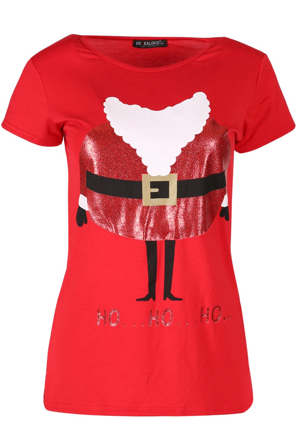 womens ladies christmas santa claus father suit belted costume