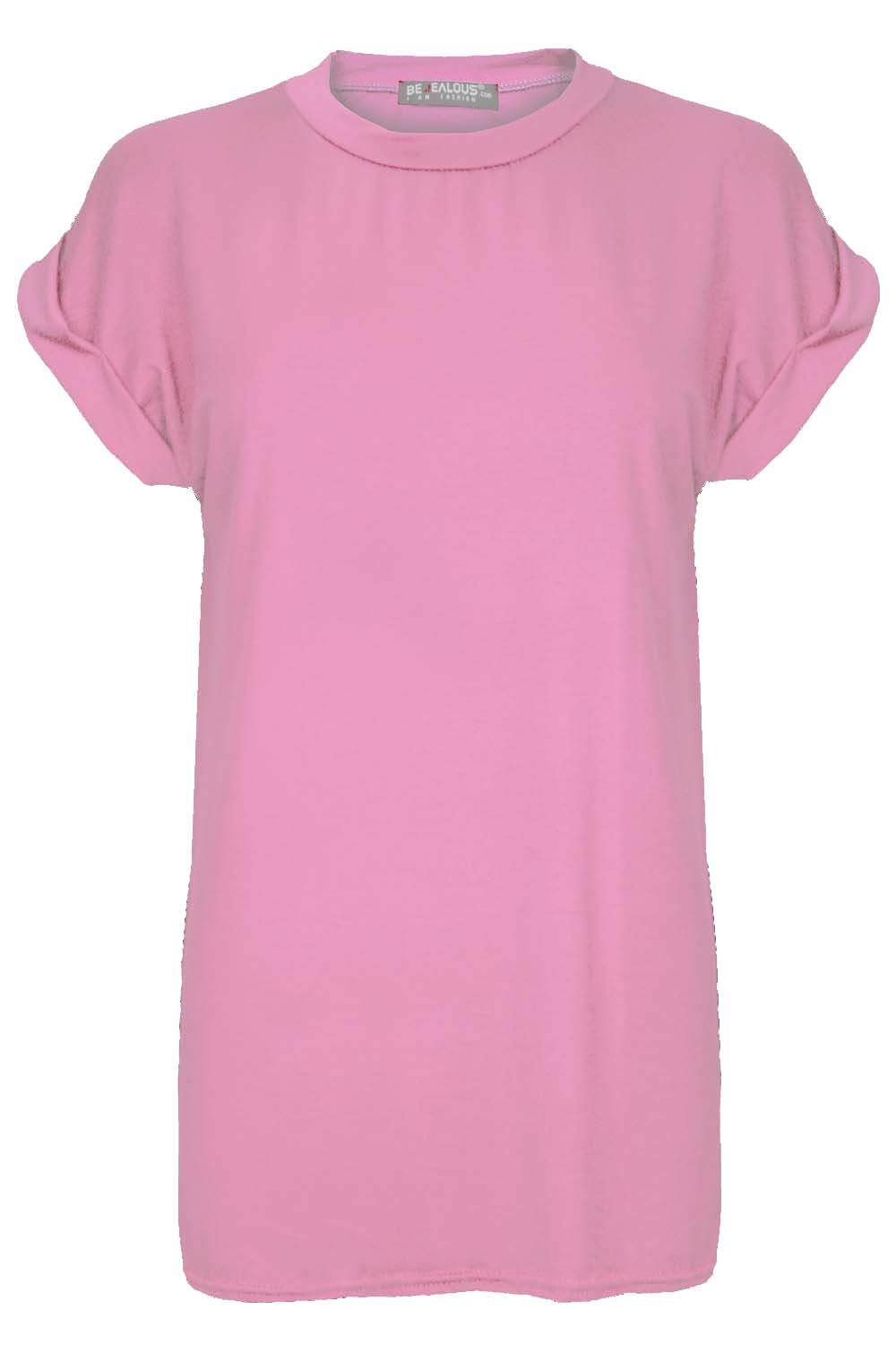 Womens-Lips-Eyes-T-Shirt-Ladies-Stretch-Baggy-Oversized-Short-Turn-Up-Sleeve-Top