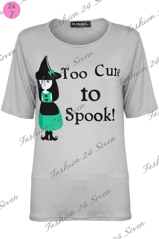Femme Spooky Cutie Halloween Déguisement coustume T Shirt Femme Baggy Surdimensionné Haut