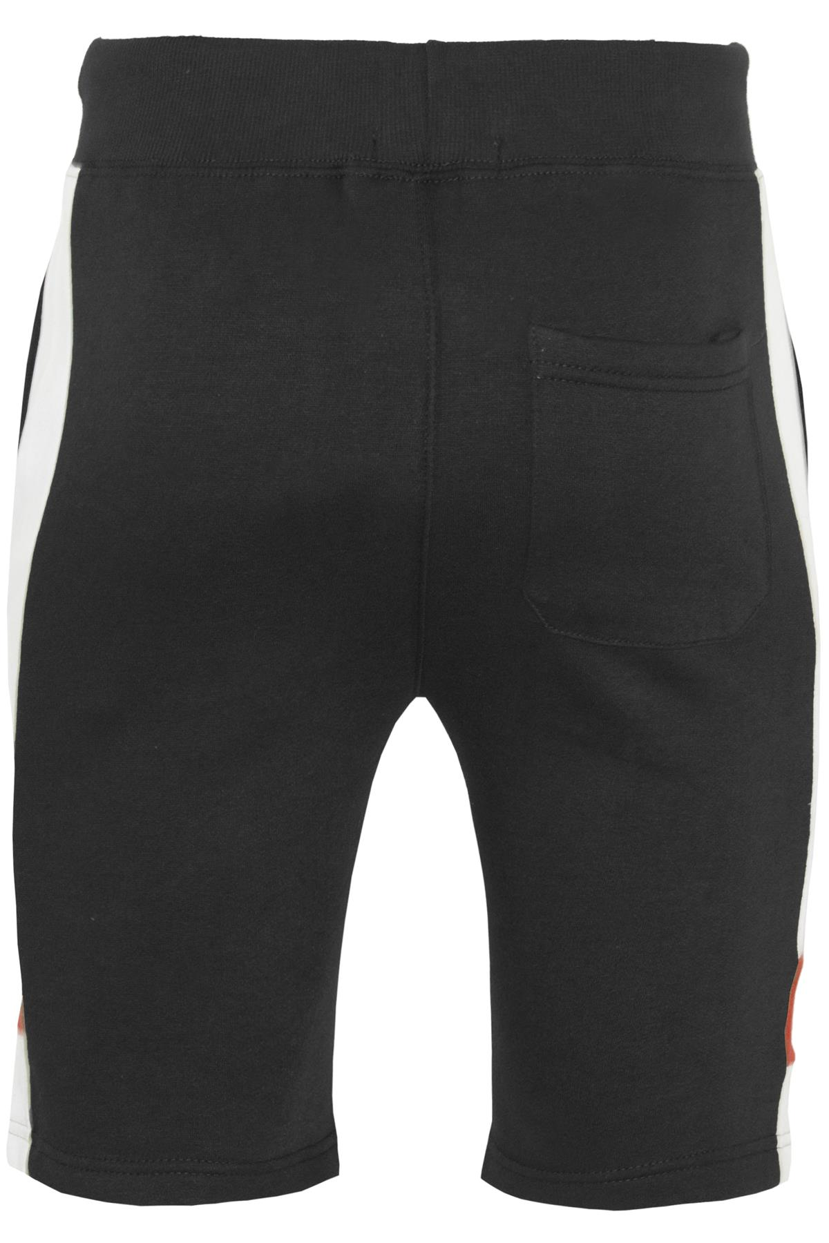 Mens-Contrast-Panel-Running-Summer-Side-Slit-Knee-Length-Fleece-Bottoms-Shorts thumbnail 11