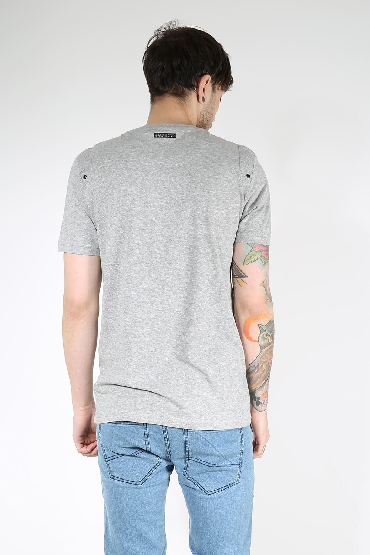 Rawcraft mens single chest pocket v button neck short for Men s v neck pocket tee shirts