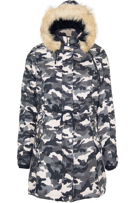 Womens-Ladies-Parka-Trench-Long-Fishtail-Hooded-Faux-Fur-Brave-Soul-Coat-Jacket thumbnail 29