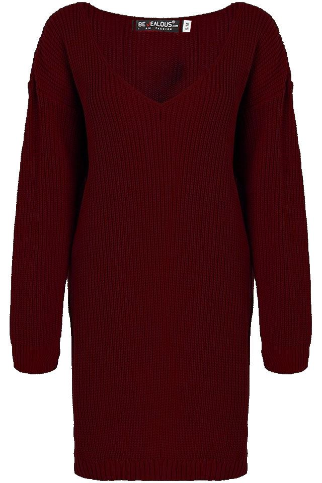 Womens-Oversized-Jumper-Ladies-Dress-Long-Sleeve-Chunky-Knitted-Long-Sweater-Top thumbnail 53