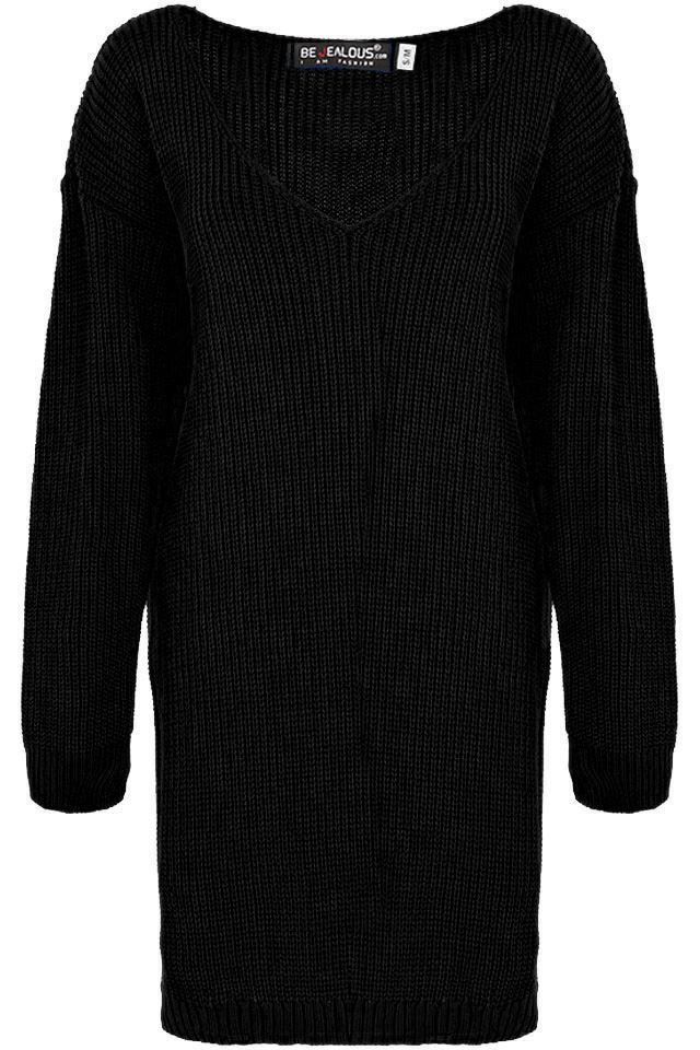 Womens-Oversized-Jumper-Ladies-Dress-Long-Sleeve-Chunky-Knitted-Long-Sweater-Top thumbnail 49