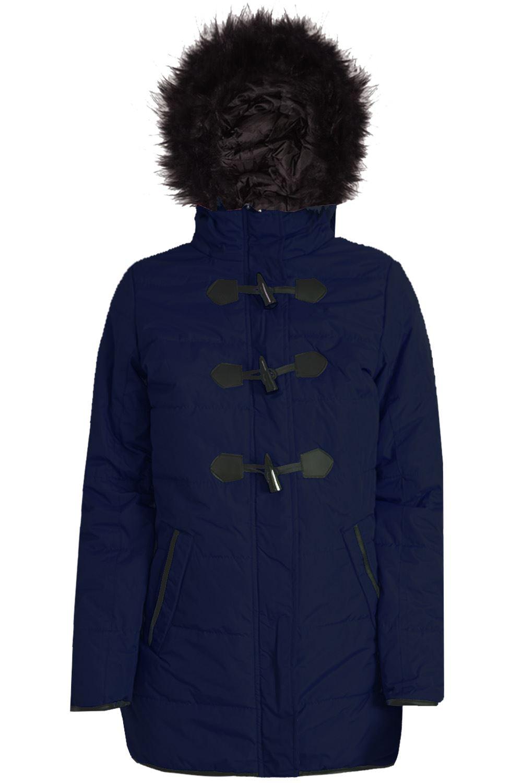 Womens-Ladies-Parka-Trench-Long-Fishtail-Hooded-Faux-Fur-Brave-Soul-Coat-Jacket thumbnail 25