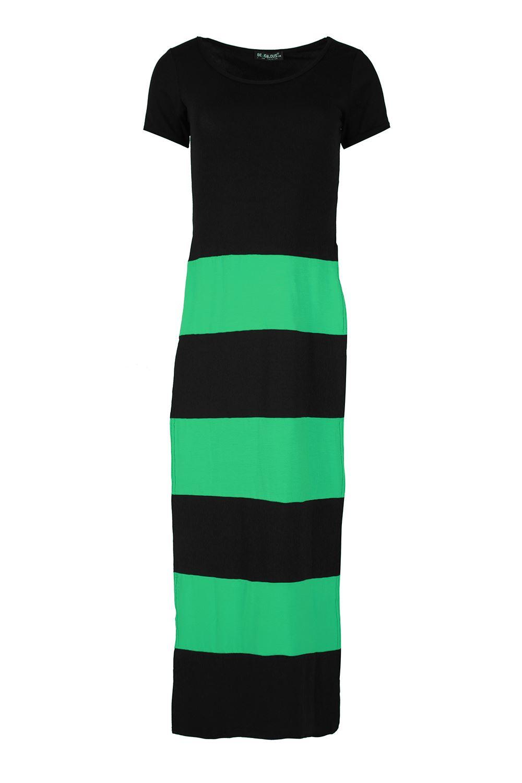 Womens-Ladies-Scoop-Neck-High-Waist-Split-Double-Side-Slit-Long-Maxi-Dress-Top
