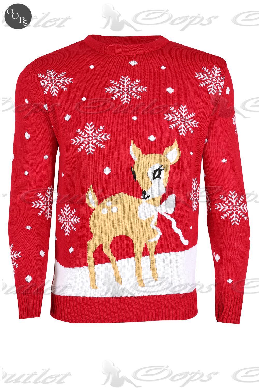Unisex Christmas Gift Ideas: Unisex Womens Mens Christmas Jumper Baby Reindeer Xmas