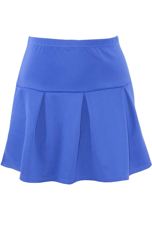 91f16f77062 Plus Size Ladies Womens High Waisted Flared Skater Skirt Girls Swing ...