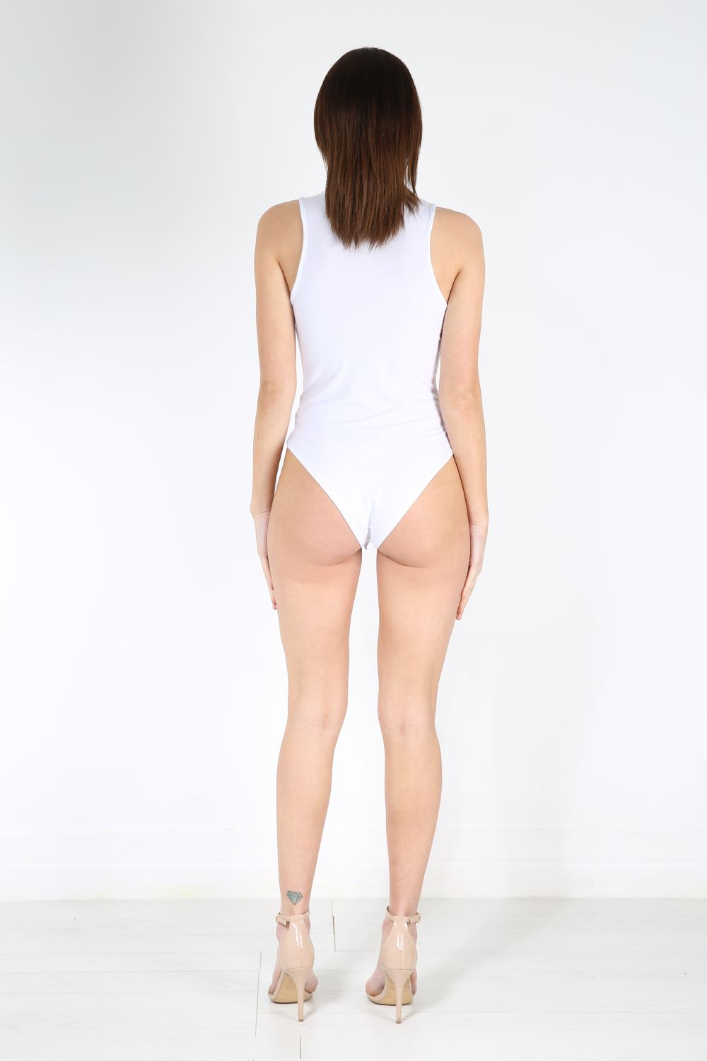 adult french cut turtle neck leotard