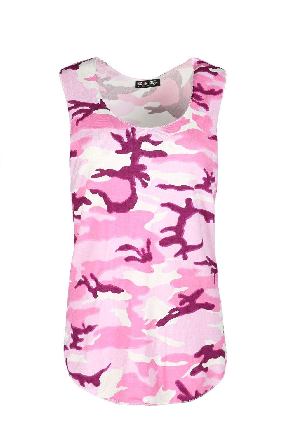New-Ladies-Womens-Army-Camouflage-Leopard-Print-Sleeveless-Casual-Vest-Top-8-14