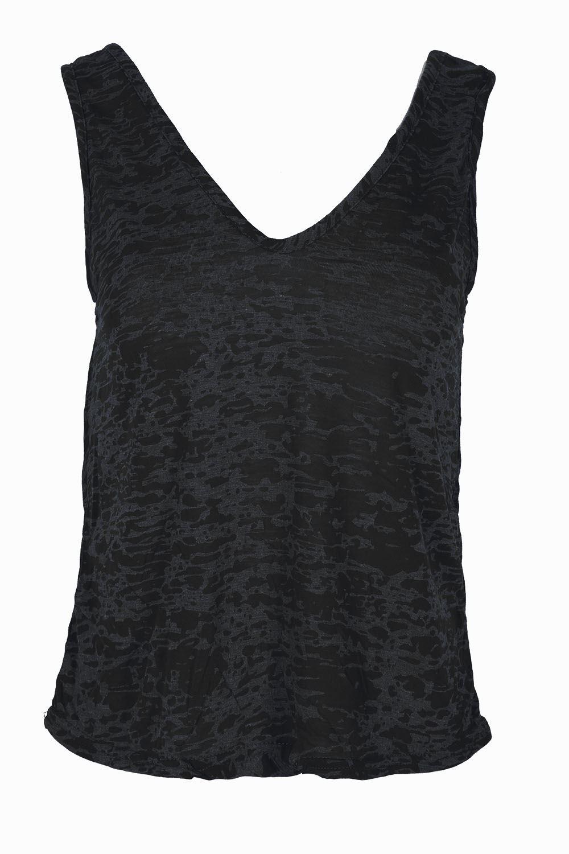 Black t shirt front and back plain - Womens Muscle Vest V Neck Front V Back