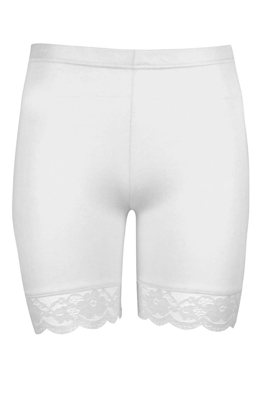 white cycling shorts