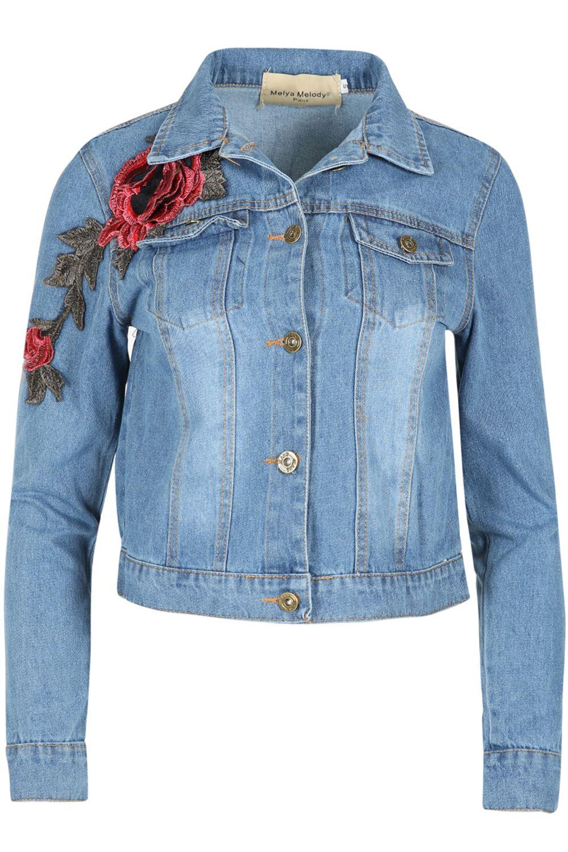 Womens-Ladies-Pockets-Slim-Denim-Jean-Buttons-Down-Coat-Crop-Jacket-Top-Outwear 縮圖 13