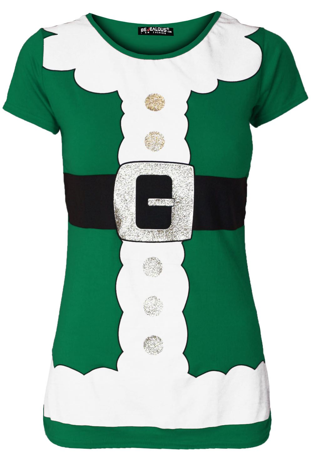 thumbnail 13 - Womens-Christmas-Xmas-Pullover-Elf-Candystick-Snowflakes-Ladies-T-Shirt-Tee-Top