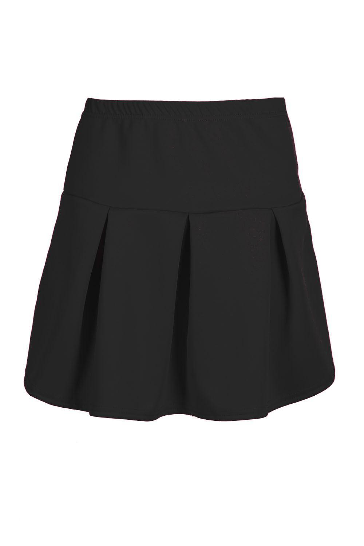 Women Girls High Waist Pleated Stretchy Flared Swing Mini Shorts Skirt Plus Size