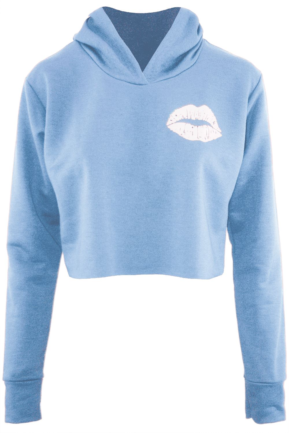 d6cc5373ab Womens Ladies Sweatshirt Cute Lips Hooded Fleece Oversized Long ...