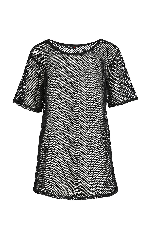 Womens Lace Crochet T Shirt Ladies Short Sleeve Baggy