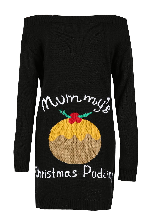 Orange centre christmas pudding jumper