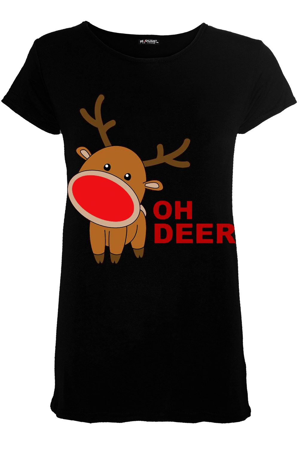 New-Women-Ladies-Cap-Sleeve-Xmas-Gingerbread-Hat-Candy-Printed-Christmas-T-Shirt