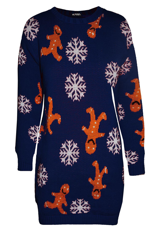 Womens-Ladies-Xmas-Elf-Costume-Christmas-Knit-Jumper-Mini-Dress-Plus-Size-8-22