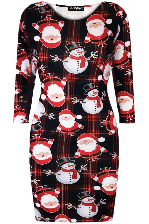 Womens Xmas Bodycon Ladies Christmas Elf Santa Claus