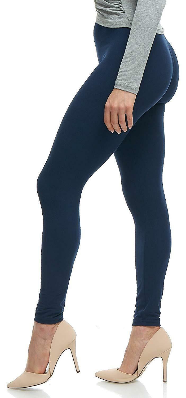 Femme Basic Plain Pantalon Pleine Longueur Cheville Extensible Leggings Jeggings