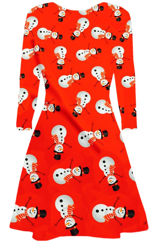 Women-Ladies-Kids-Girls-Xmas-Santa-Gifts-Christmas-Print-Skater-Mini-Swing-Dress thumbnail 28