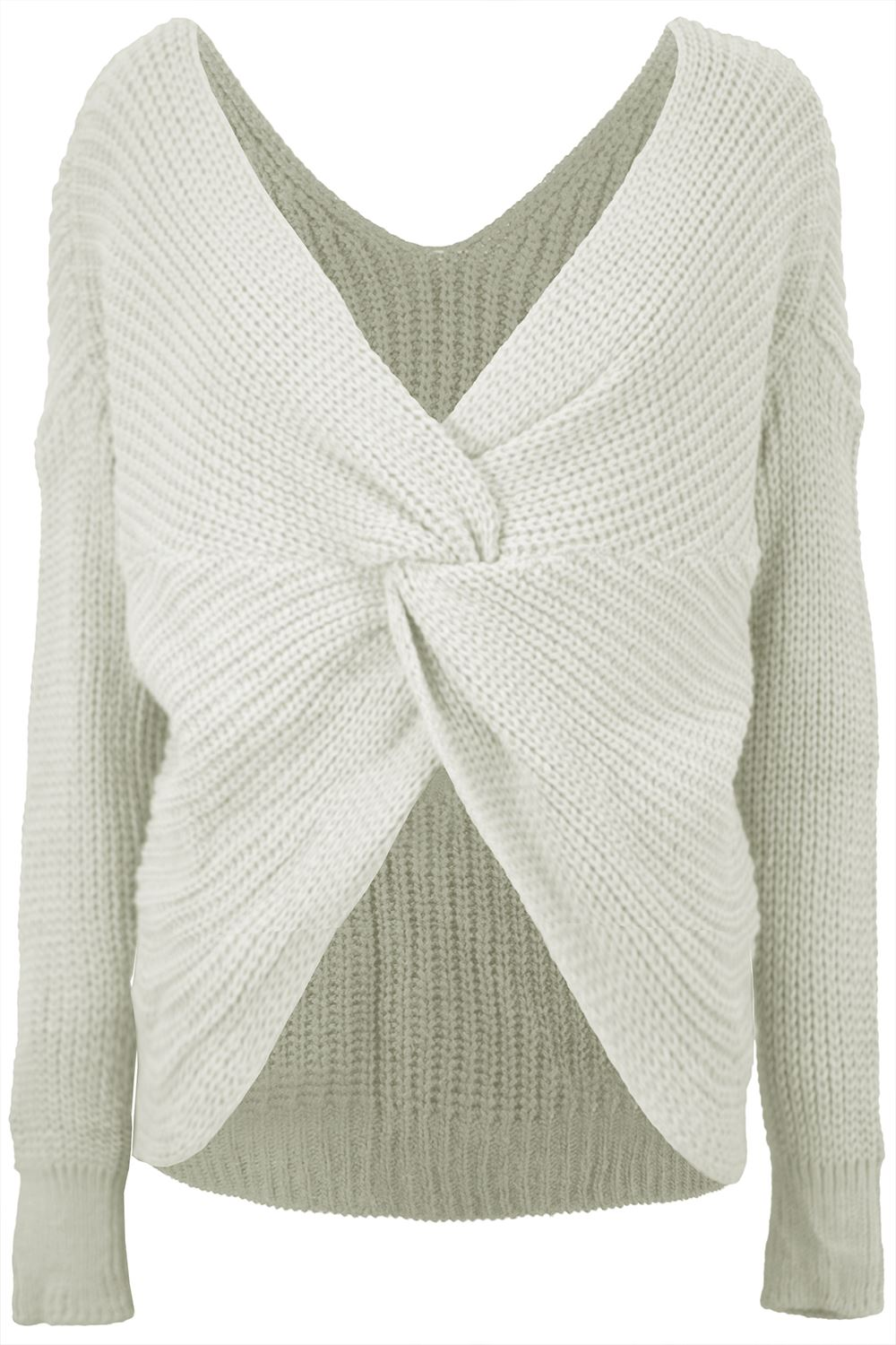 Womens-Ladies-Twisted-Knot-Front-Slouch-Fit-Bubble-Sleeve-Baggy-Oversized-Jumper thumbnail 13