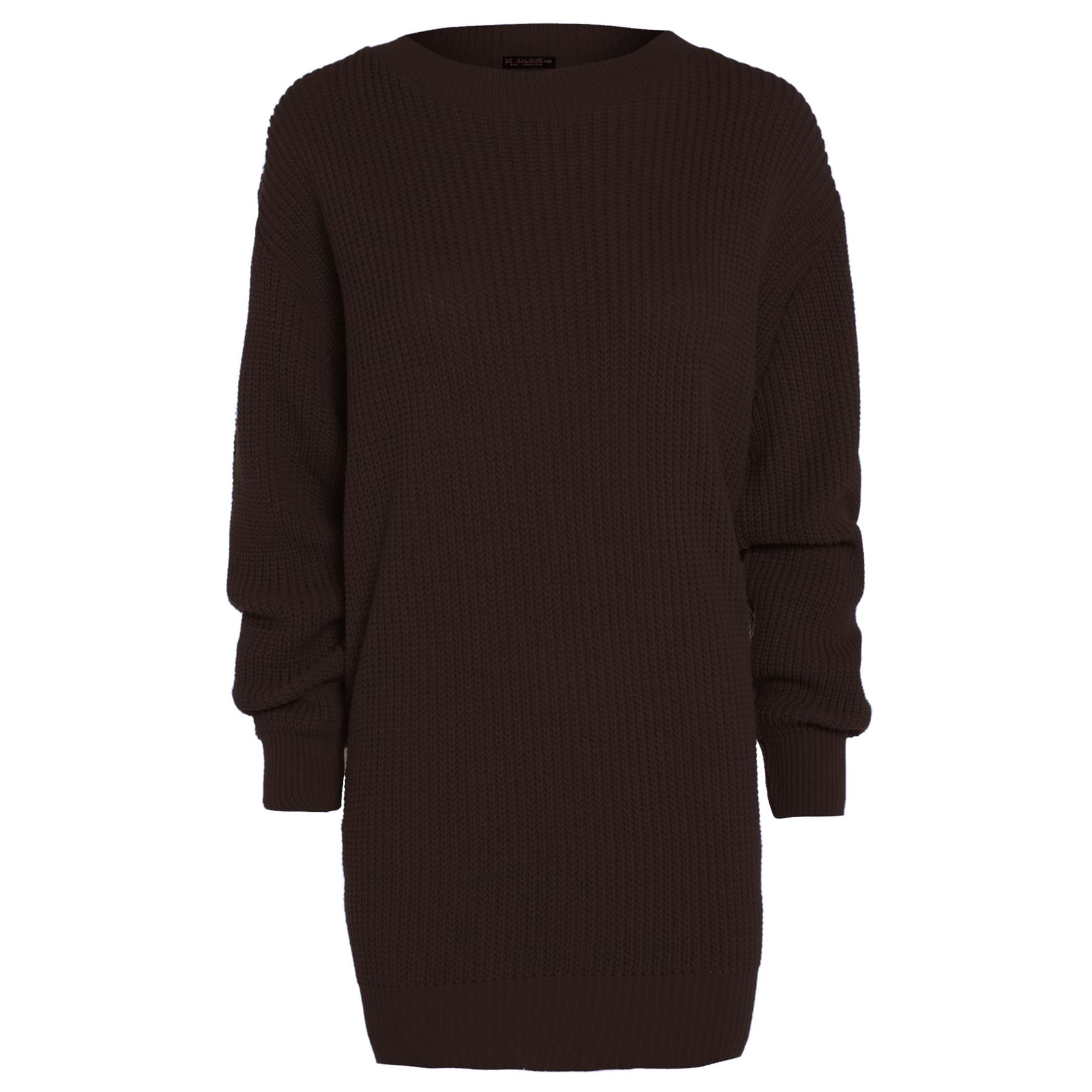 Womens-Oversized-Jumper-Ladies-Dress-Long-Sleeve-Chunky-Knitted-Long-Sweater-Top thumbnail 9