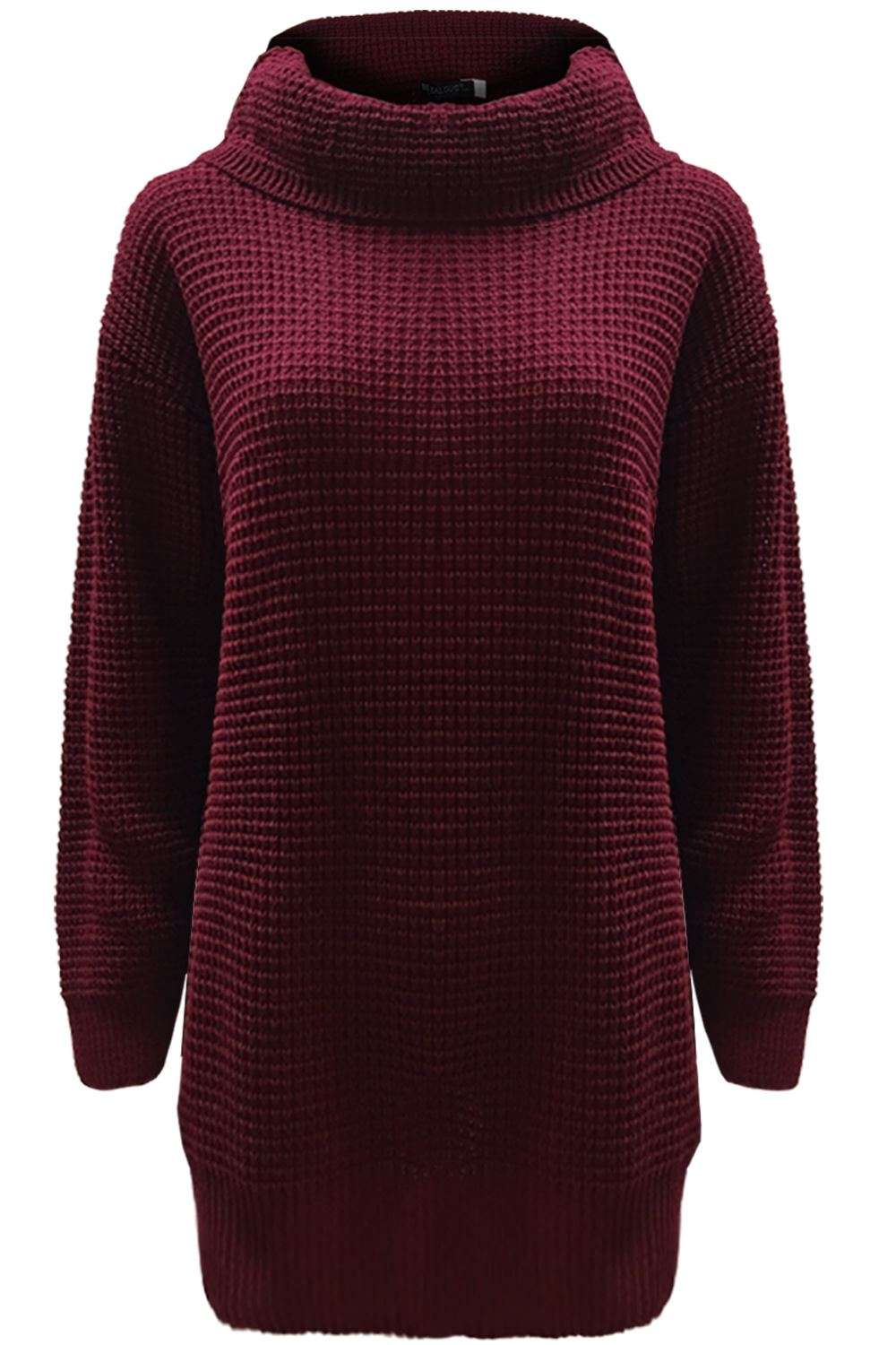 f0c07882c852 Ladies Womens Casual Cowl Roll Neck Chunky Knitted Oversized Jumper ...