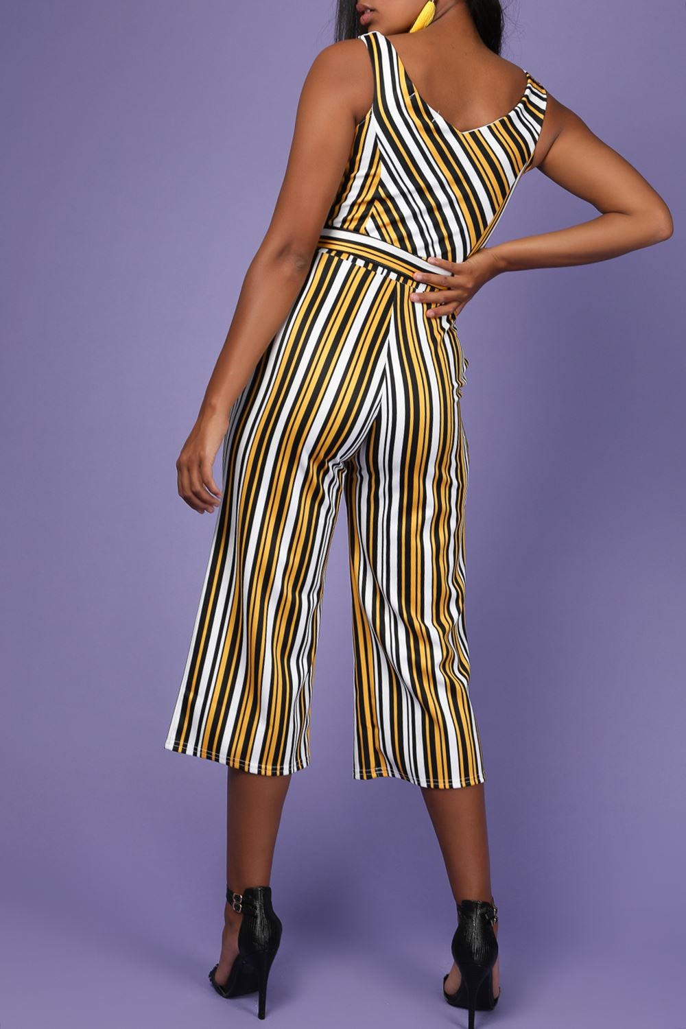 Womens Palazzo Wide Leg Pants Cami Strappy Culotte Playsuit Jumpsuit All in One