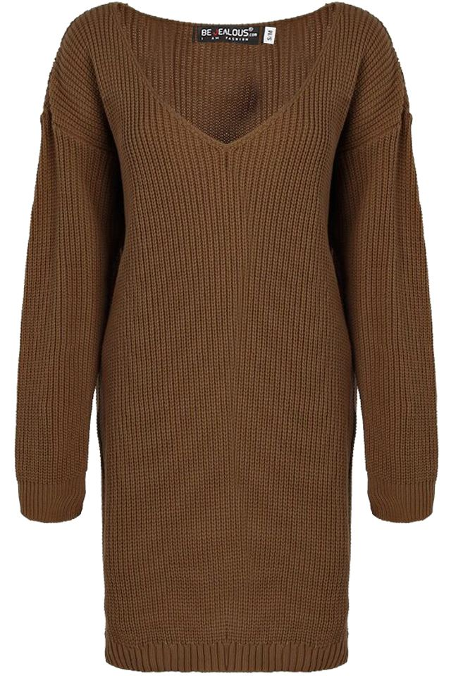 Womens-Oversized-Jumper-Ladies-Dress-Long-Sleeve-Chunky-Knitted-Long-Sweater-Top thumbnail 52