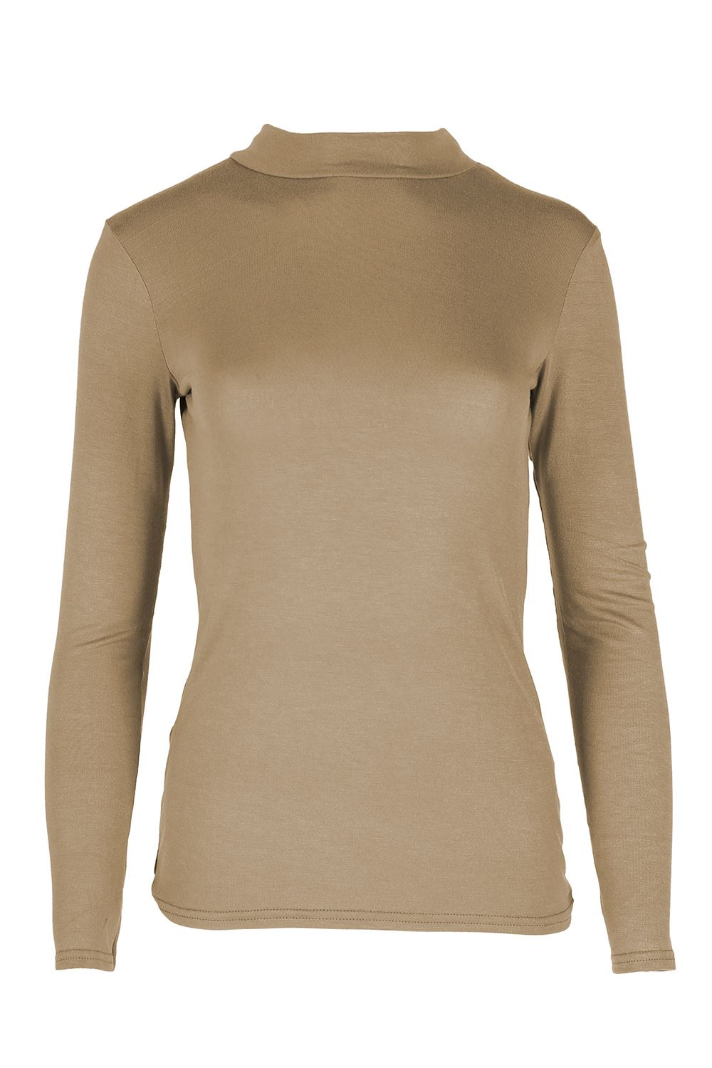 Ladies womens long sleeve plain baggy polo turtle neck for What is polo neck t shirts