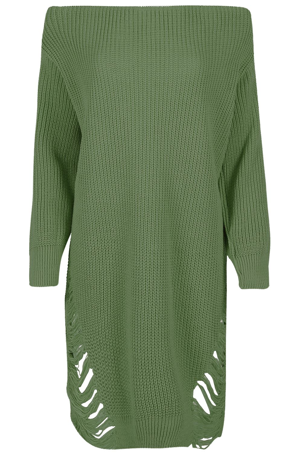 Womens-Oversized-Jumper-Ladies-Dress-Long-Sleeve-Chunky-Knitted-Long-Sweater-Top thumbnail 29