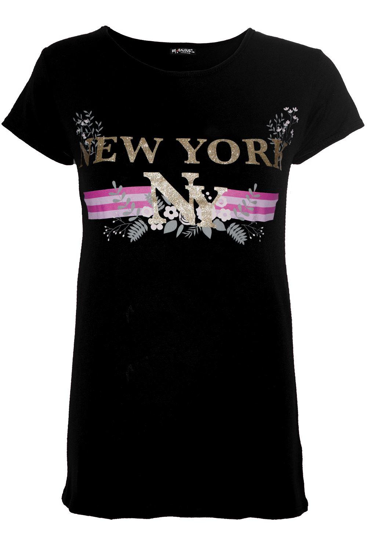 Womens-Curved-Hem-Jersey-Plain-Top-Ladies-Round-Neck-Turn-Up-Cap-Sleeve-T-Shirt thumbnail 36