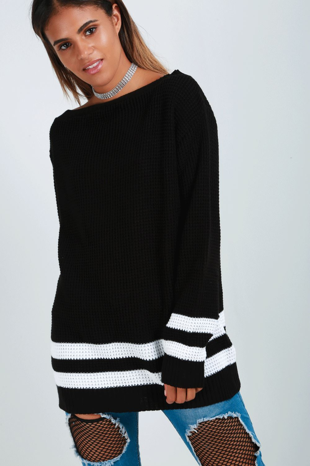 Womens-Oversized-Jumper-Ladies-Dress-Long-Sleeve-Chunky-Knitted-Long-Sweater-Top thumbnail 20