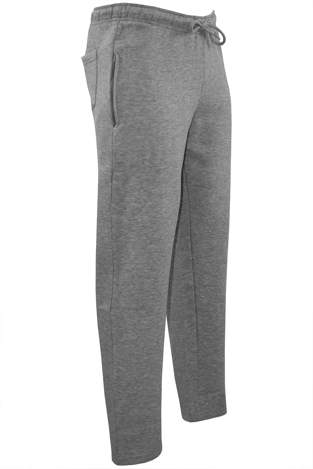 New Mens Elasticated Cotton Cuffed Tracksuit Bottoms Gym