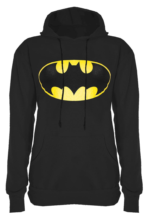 Ladies-Full-Sleeve-Superman-Tee-Shirt-Womens-Batman-Sweatshirt-Hoody-Tops