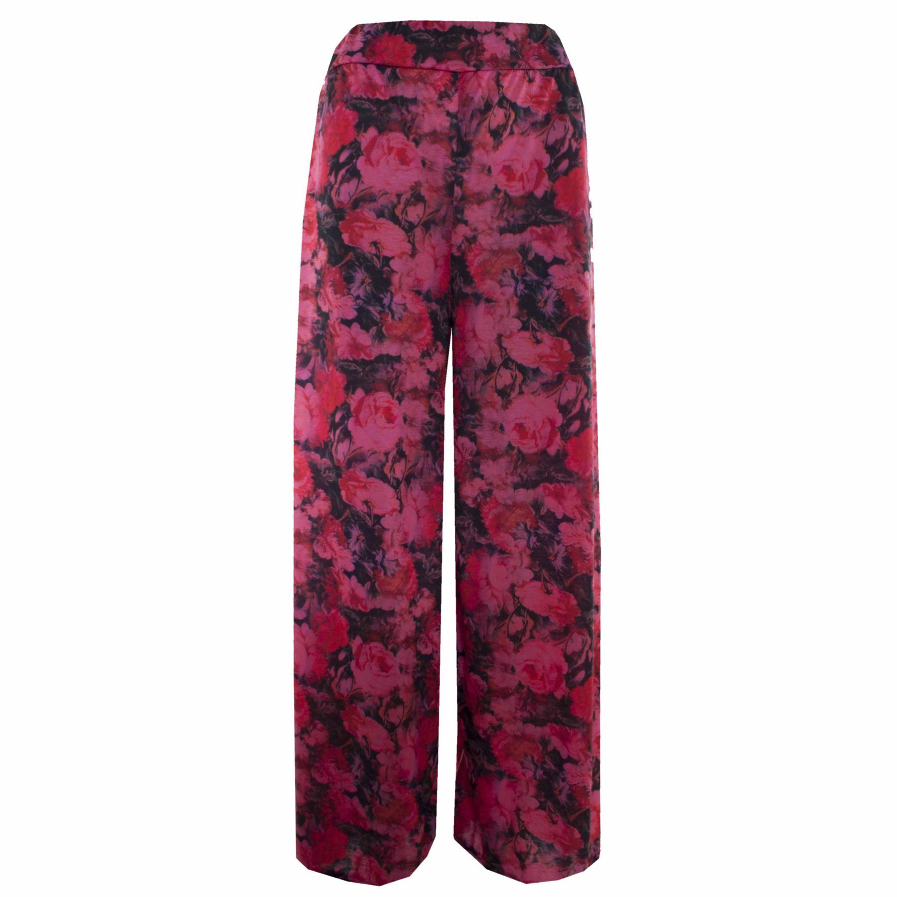 Womens-Floral-Print-Palazzo-Trousers-Ladies-Wide-Leg-Flared-Loose-Pants-Leggings