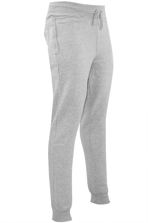 Polar-Para-hombre-Cintura-Elastica-Slim-Fit-Pantalones-De-Chandal-Jog-Pista-Pantalon-gymming miniatura 7
