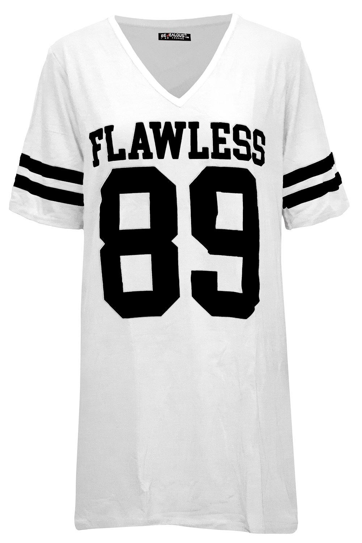 e84663e3f Ladies Sports Stripes Printed Sleeves Pj Dress Womens Baggy ...