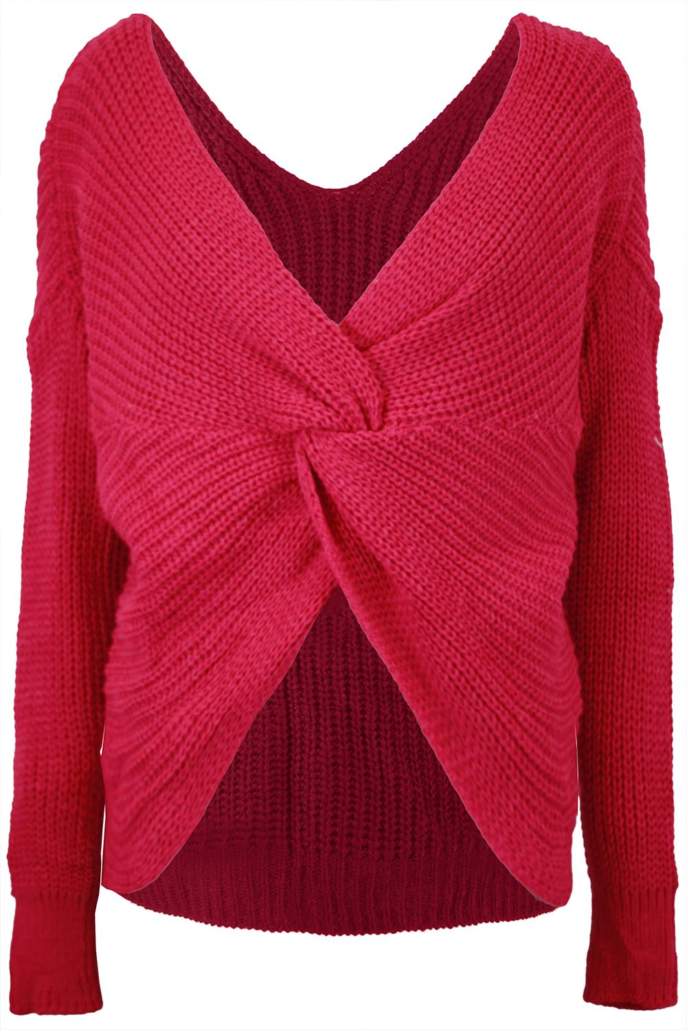 Womens-Ladies-Twisted-Knot-Front-Slouch-Fit-Bubble-Sleeve-Baggy-Oversized-Jumper thumbnail 17
