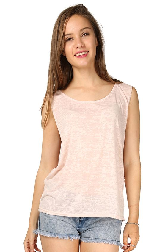 New womens ladies burnout deep side cutout tank sleeveless for Sleeveless shirts for ladies