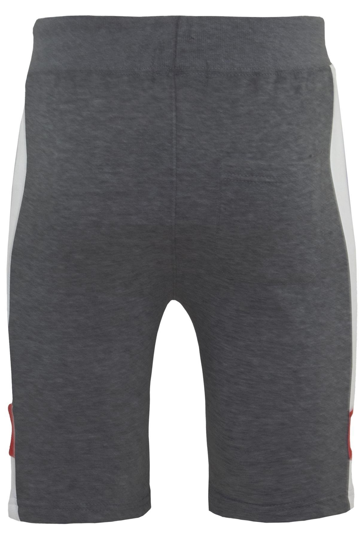 Mens-Contrast-Panel-Running-Summer-Side-Slit-Knee-Length-Fleece-Bottoms-Shorts thumbnail 13