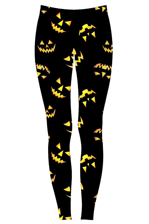 Ladies Halloween Pumpkin Skinny Floral Spider CobWeb Bats Skull Womens Leggings