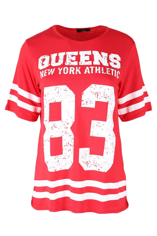 d49edbe00e Ladies Plus Size NEW JERSEY 68 Stripes Womens Varsity Baggy Oversize ...