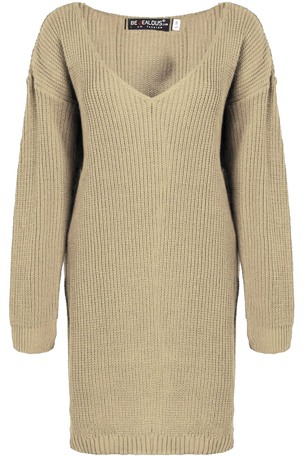 Womens-Oversized-Jumper-Ladies-Dress-Long-Sleeve-Chunky-Knitted-Long-Sweater-Top thumbnail 50