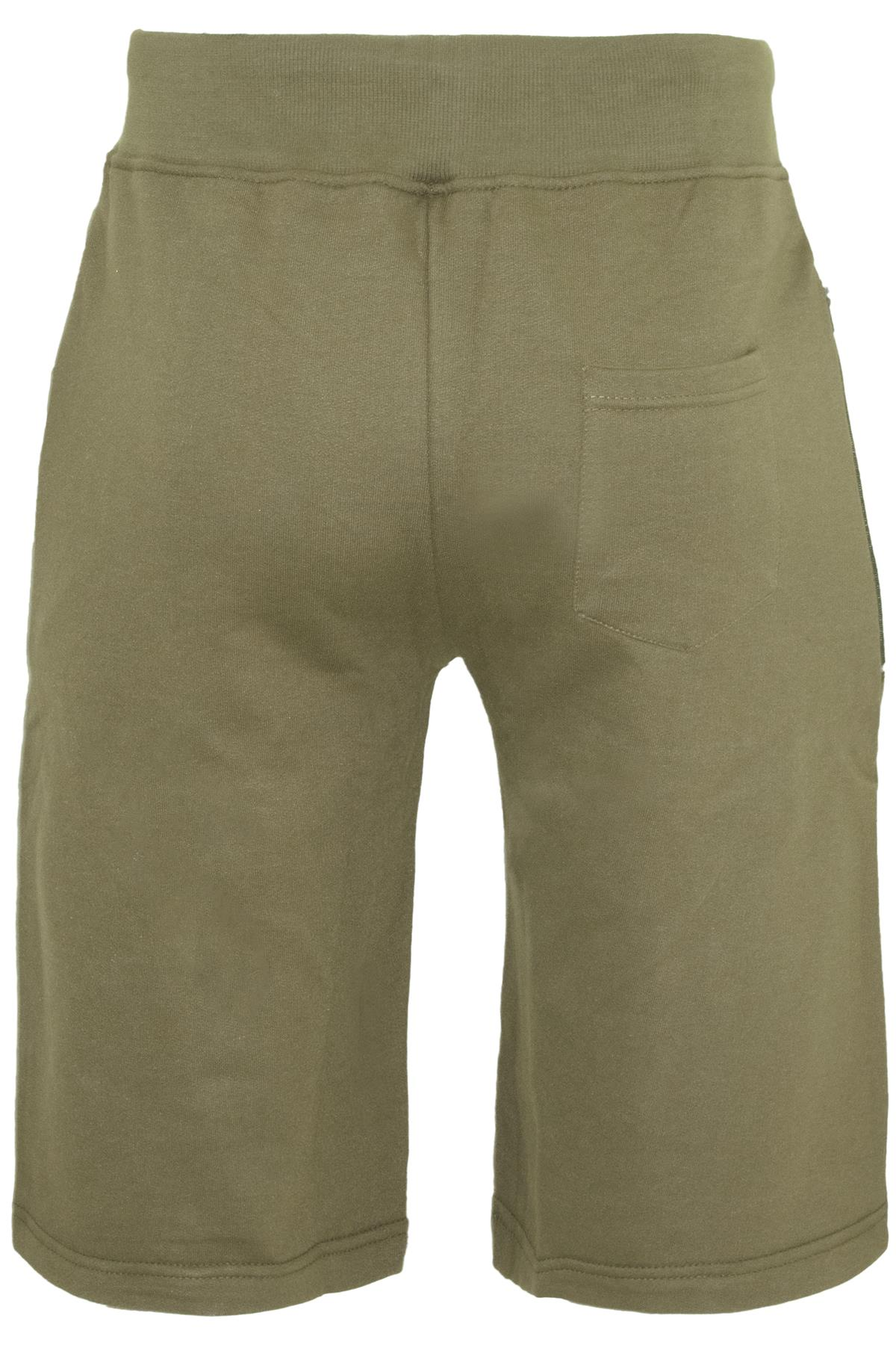 Mens-Contrast-Panel-Running-Summer-Side-Slit-Knee-Length-Fleece-Bottoms-Shorts thumbnail 42